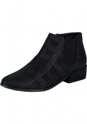Velour bootie, black