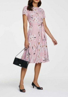 Print dress, rose