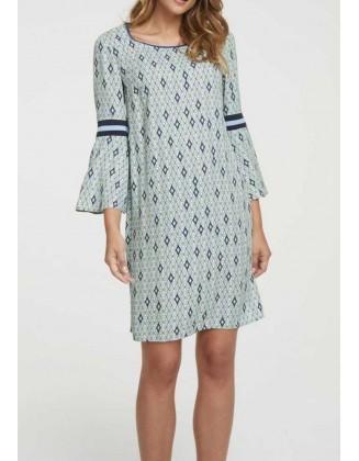 "Mėlyna marginta suknelė ""Petrol"""