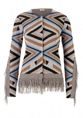 Ekstravagantiškas megztinis su kutais