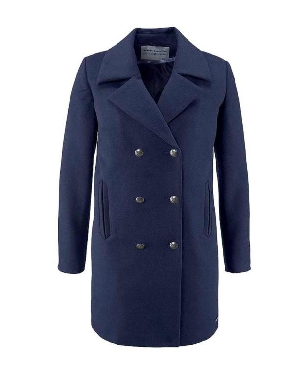 Trumpas mėlynas Tom Tailor paltas