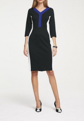 Jersey dress, multicolour