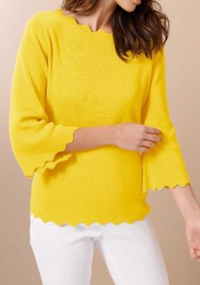 Silk cotton sweater, yellow