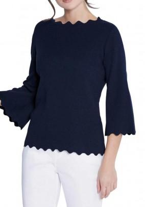 Mėlynas Création L megztinis su šilku