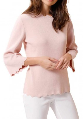 Silk cotton sweater, rose