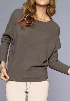 Oversize cashmere sweater, taupe