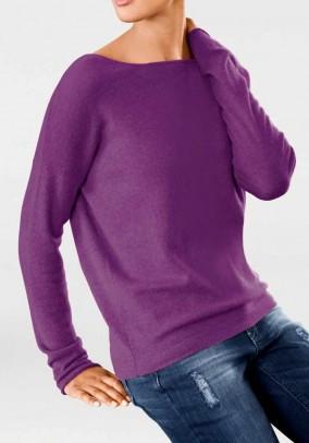 "Violetinis kašmyro megztinis ""Sweet"""