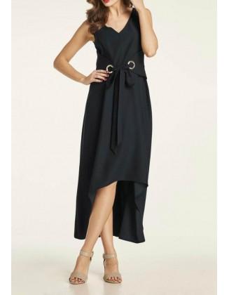 Ilga juoda surišama suknelė