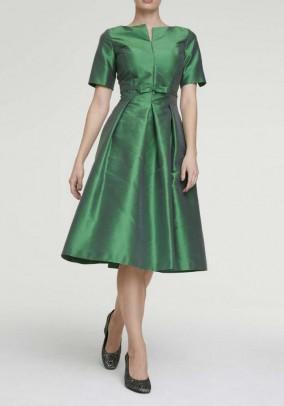 Žalia šilkinė suknelė