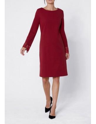 Raudona Création L suknelė