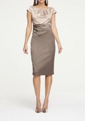 Satin dress, taupe