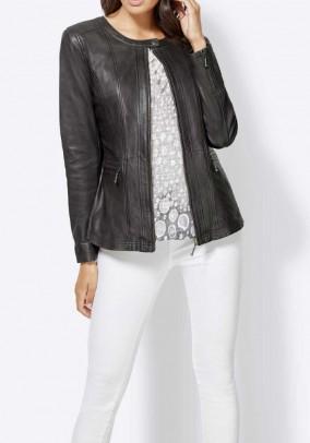 Leather jacket, grey