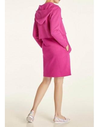 Sportinio stiliaus rožinė suknelė