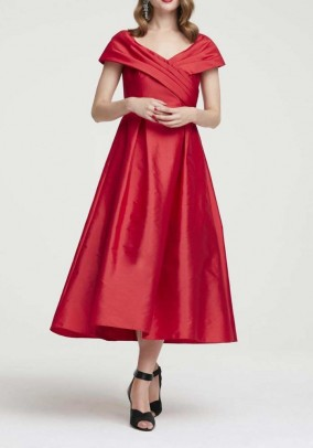 Vakarinė midi raudona suknelė. Liko 40 dydis