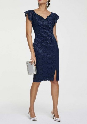 Lace dress, navy