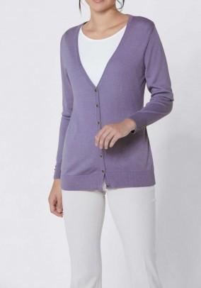 Levandų šilkinis Création L megztinis