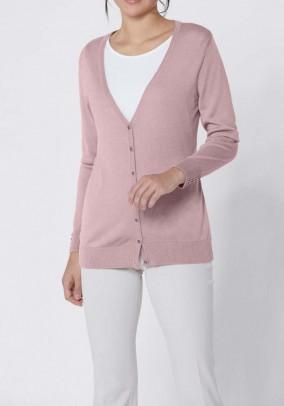 Rausvas šilkinis Création L megztinis