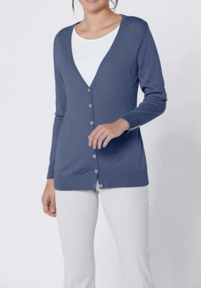 Mėlynas šilkinis Création L megztinis