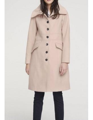"Pudros spalvos paltas ""Fluffy"""