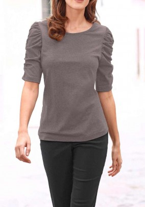 Jersey shirt, taupe