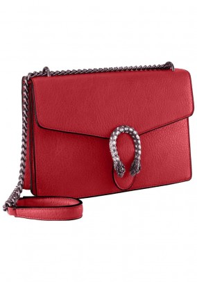 Bag with strass, red