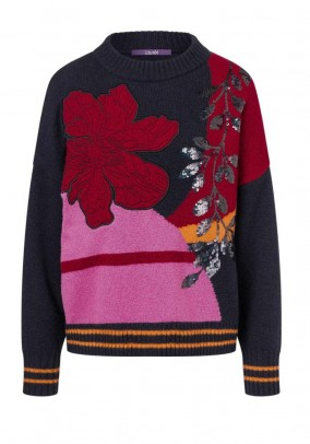Sweater with sequins, multicolour