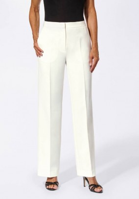 Trousers, wool white