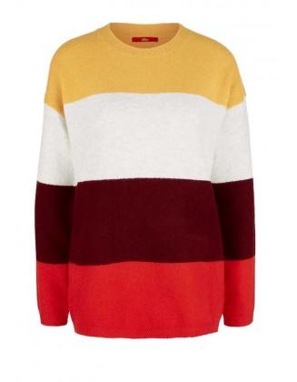 Dryžuotas S. Oliver megztinis su vilna