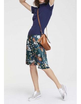 Gėlėtas satino sijonas