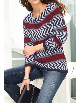 Dryžuotas Alessa W. Collection megztinis