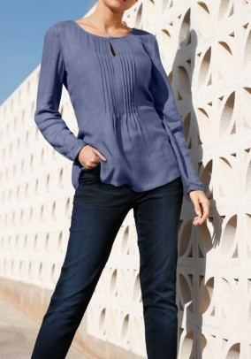 Blouse, denin blue