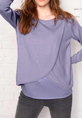 Two-in-one sweater, lavender