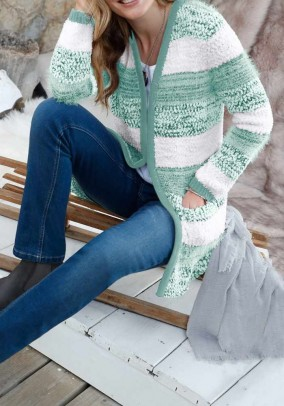 Melsvas dryžuotas Witt Weiden megztinis