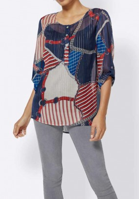 Long blouse, multicolour