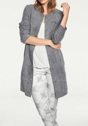 Goat velour coat, grey