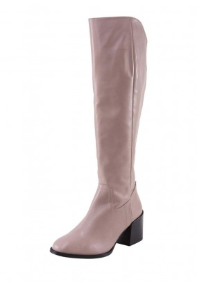 Leather boots, mauve