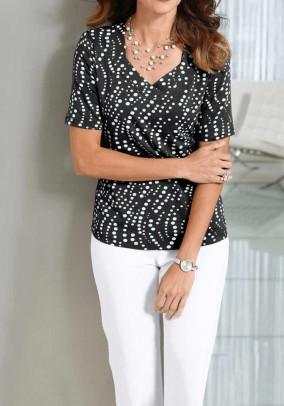 Print shirt, black-white