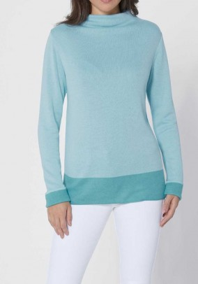 Luxurious comfort sweater, mint