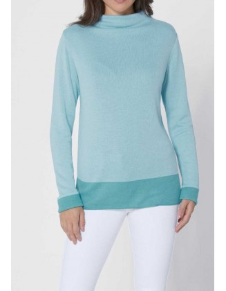 "Šilkinis Création L melsvas megztinis ""Simple"""