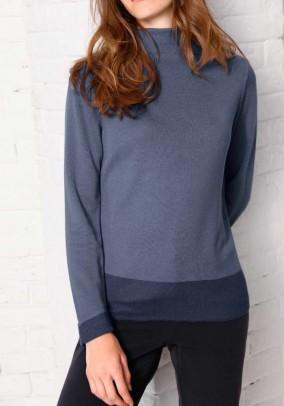 Luxurious comfort sweater, grey blue
