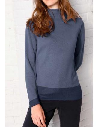 """Šilkinis Création L mėlynas megztinis """"Simple"""""""