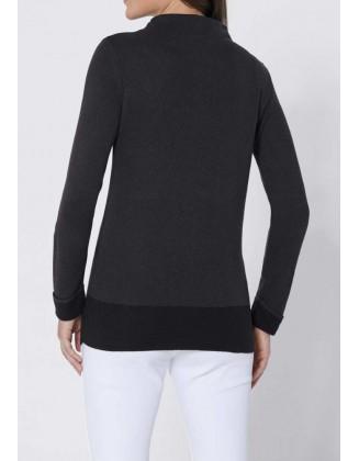 "Šilkinis Création L pilkas megztinis ""Simple"""