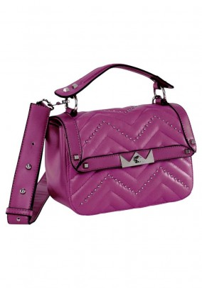 Bag with rivets, pink