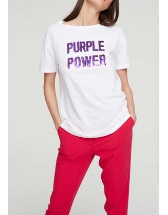 """Balti marškinėliai """"Power"""""""