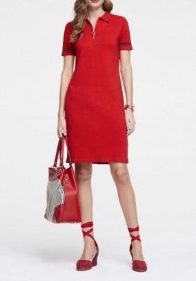 """Raudona suknelė """"Zipper"""""""