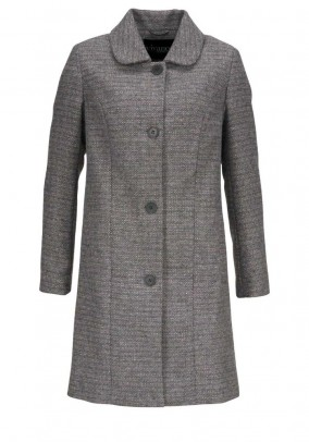 """Pilkas paltas su vilna """"Tweed"""""""