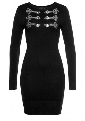 Knit dress, black