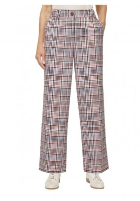 Checkered trousers, sand blue check