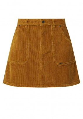 Cord skirt, light brown