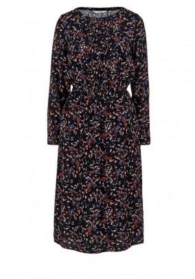 Midi dress, navy-multicolour